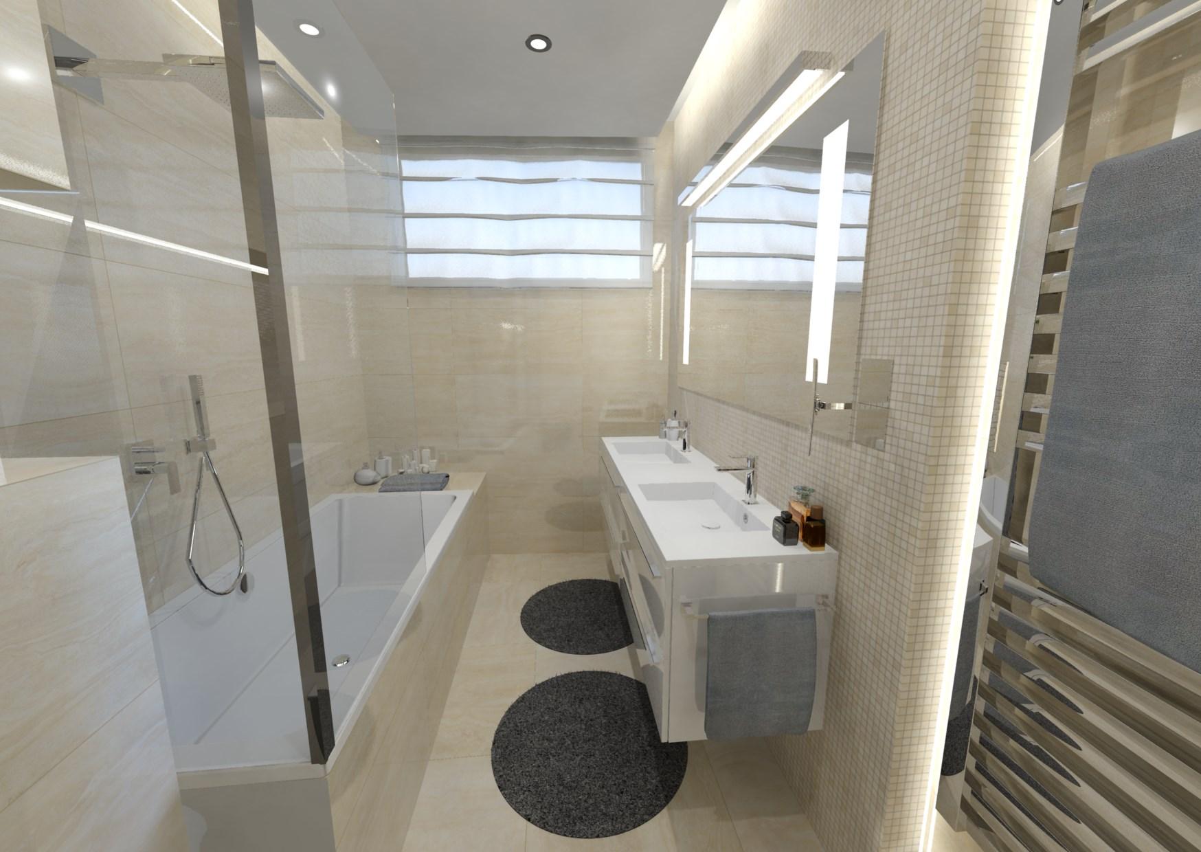 Návrh malé koupelny