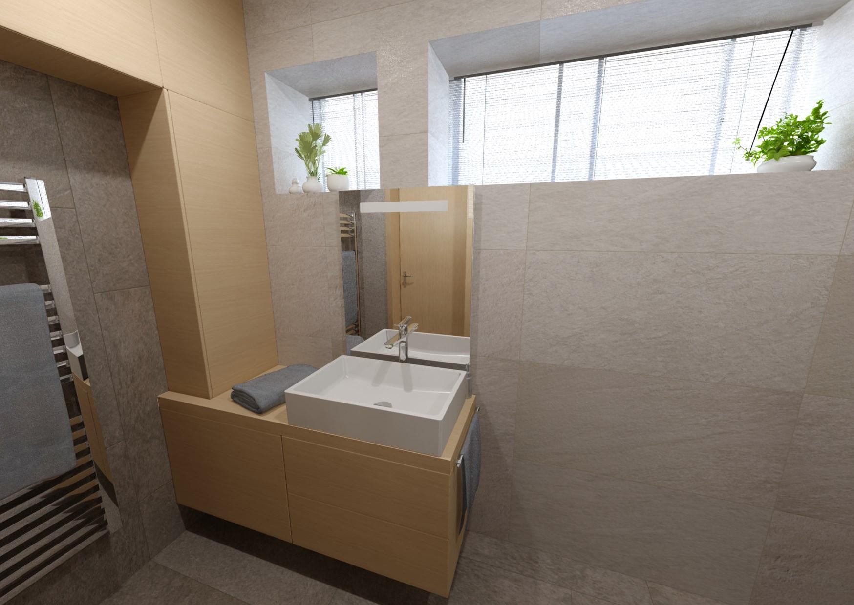 Návrh minimalistické koupelny