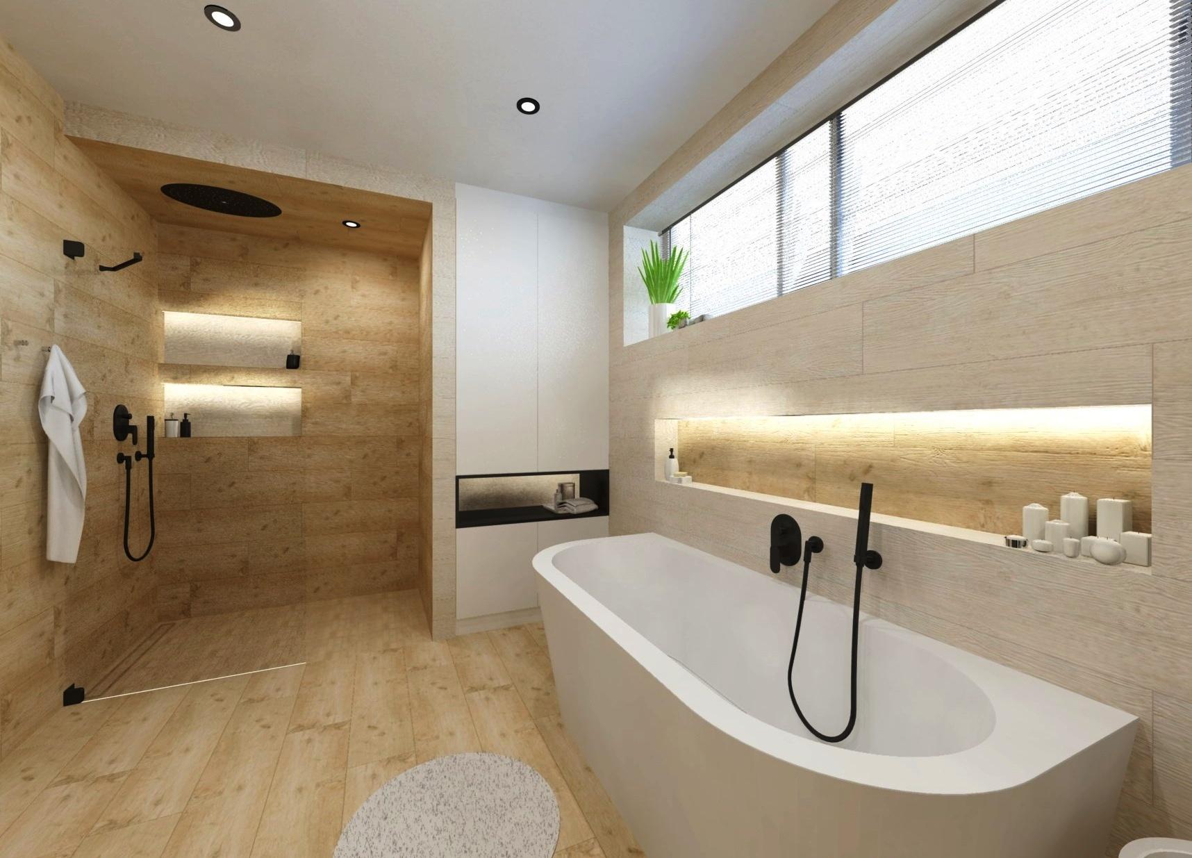 Návrh koupelny ve více variantách