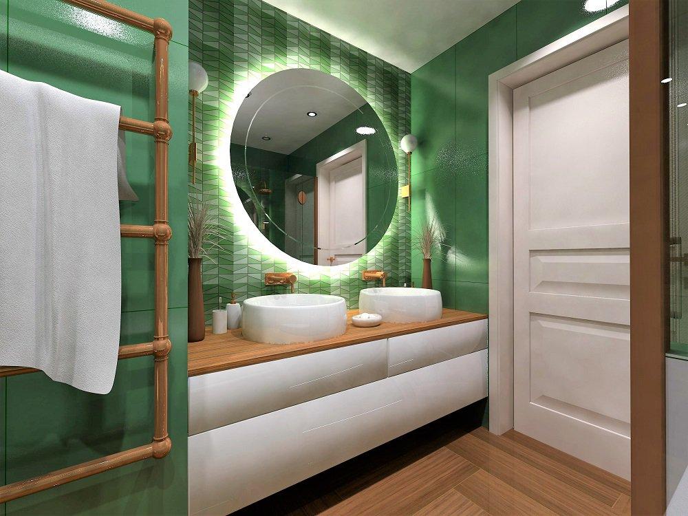 Návrh barevné koupelny