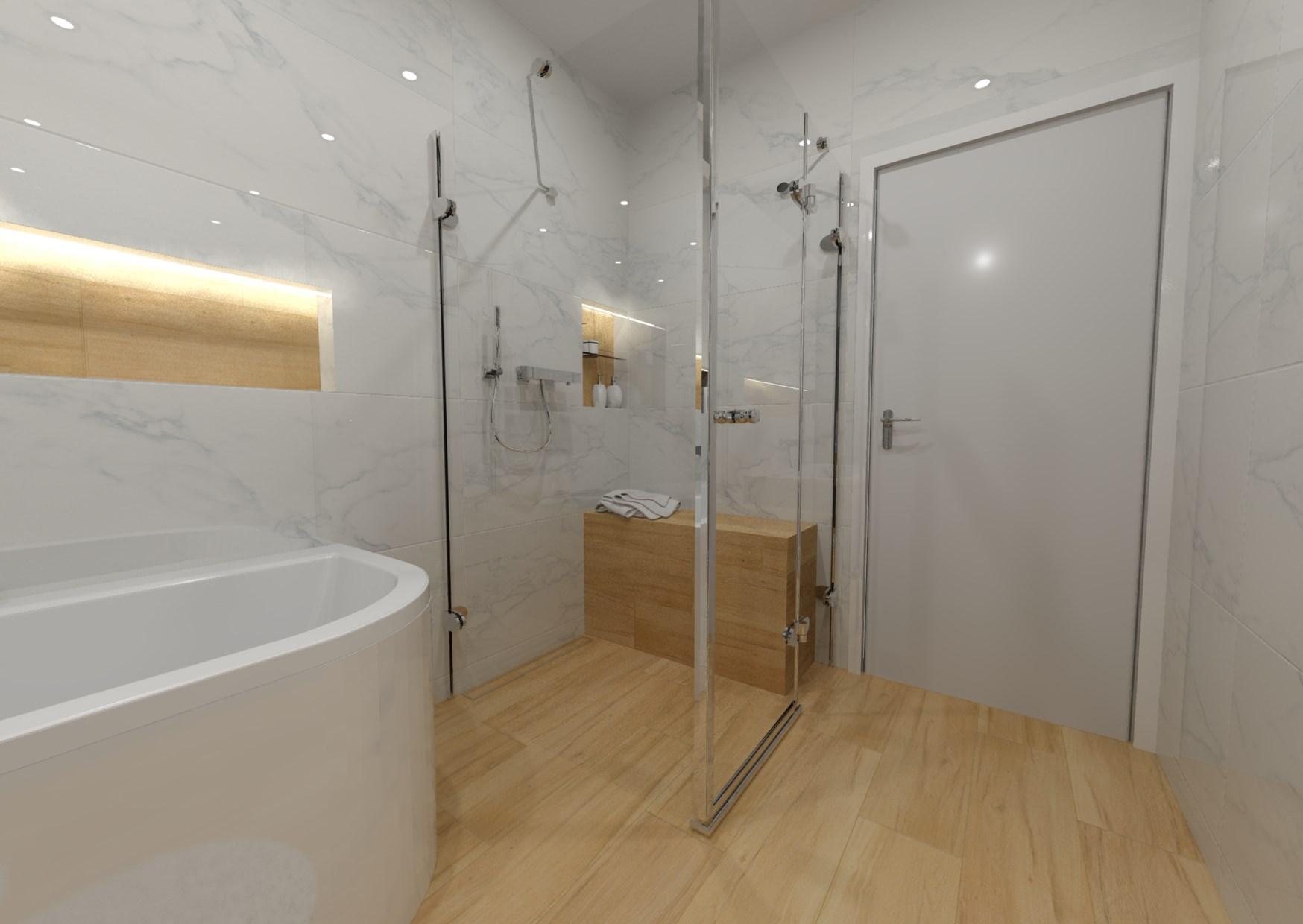 Návrh koupelny s nikou
