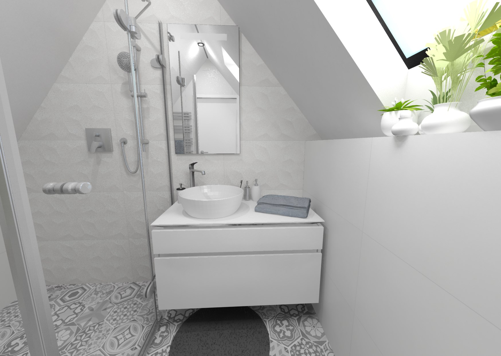 Návrh retro koupelny