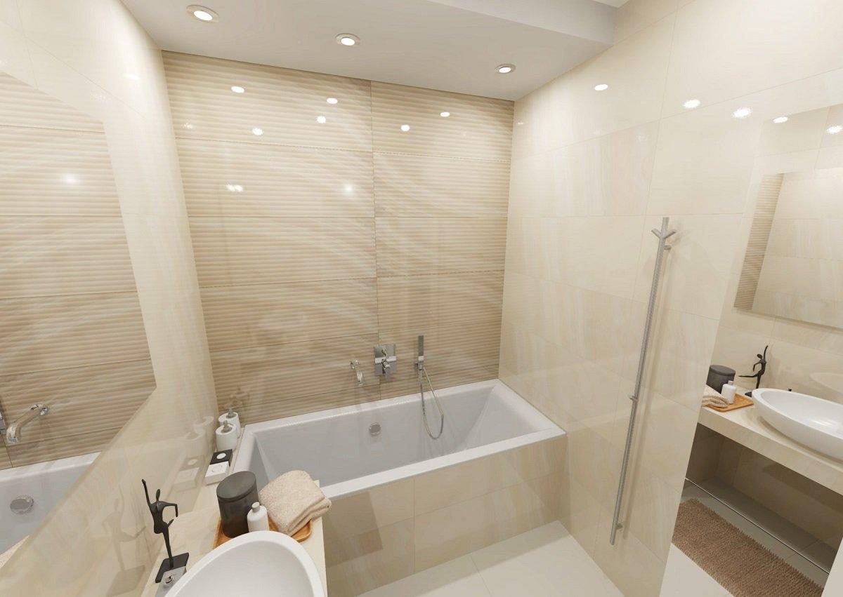 Návrh světlé koupelny