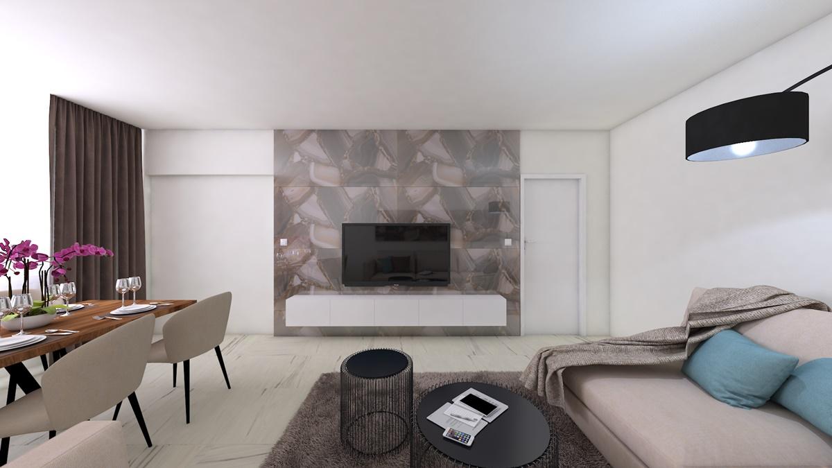 Návrh použití velkoformátové dlažby jako obrazu