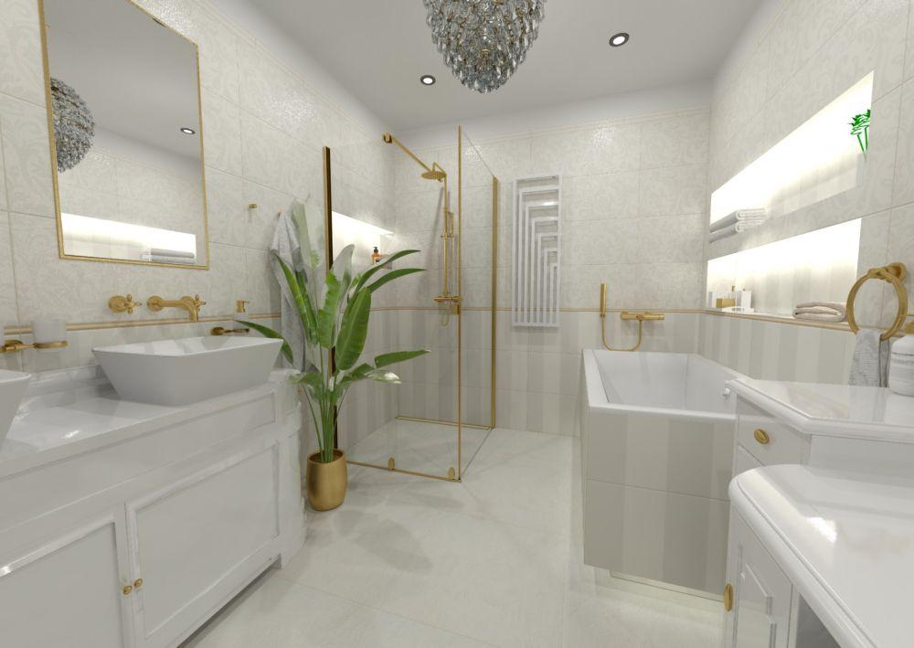 Návrh glamour koupelny
