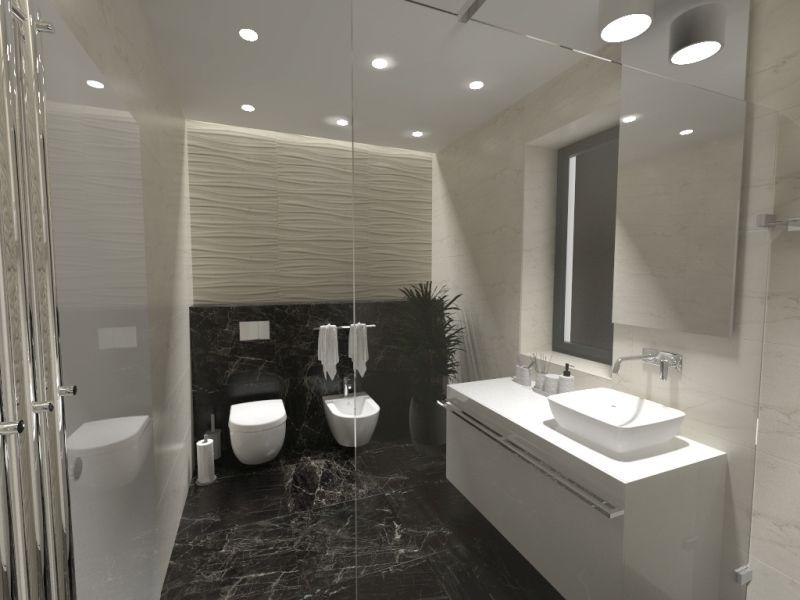 Návrh koupelny s 3D obklady 8