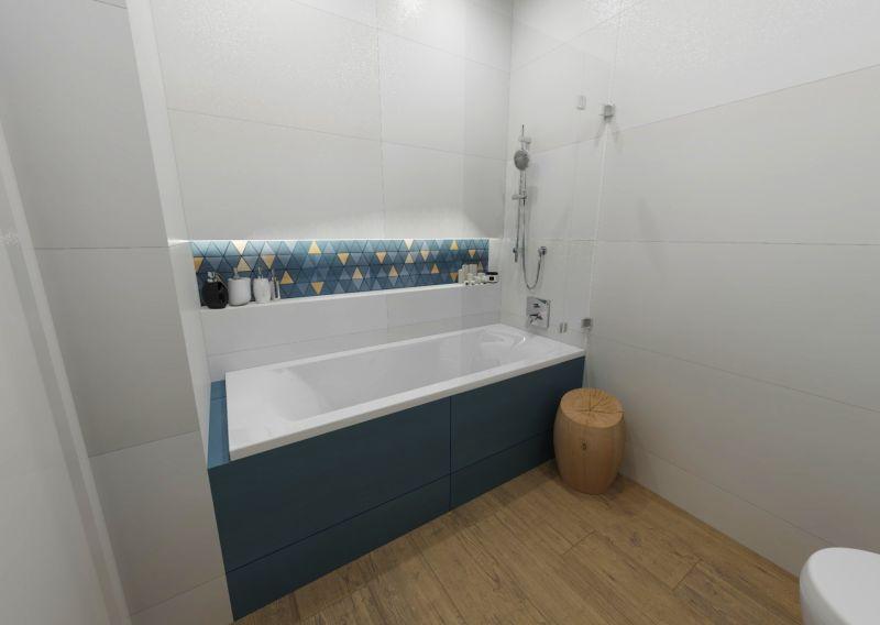 Návrh koupelny s dřevěným dekorem 9