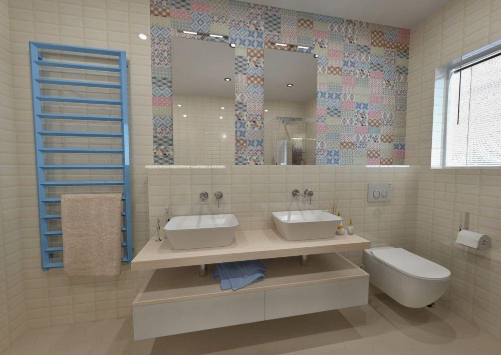 Návrh barevné koupelny 3