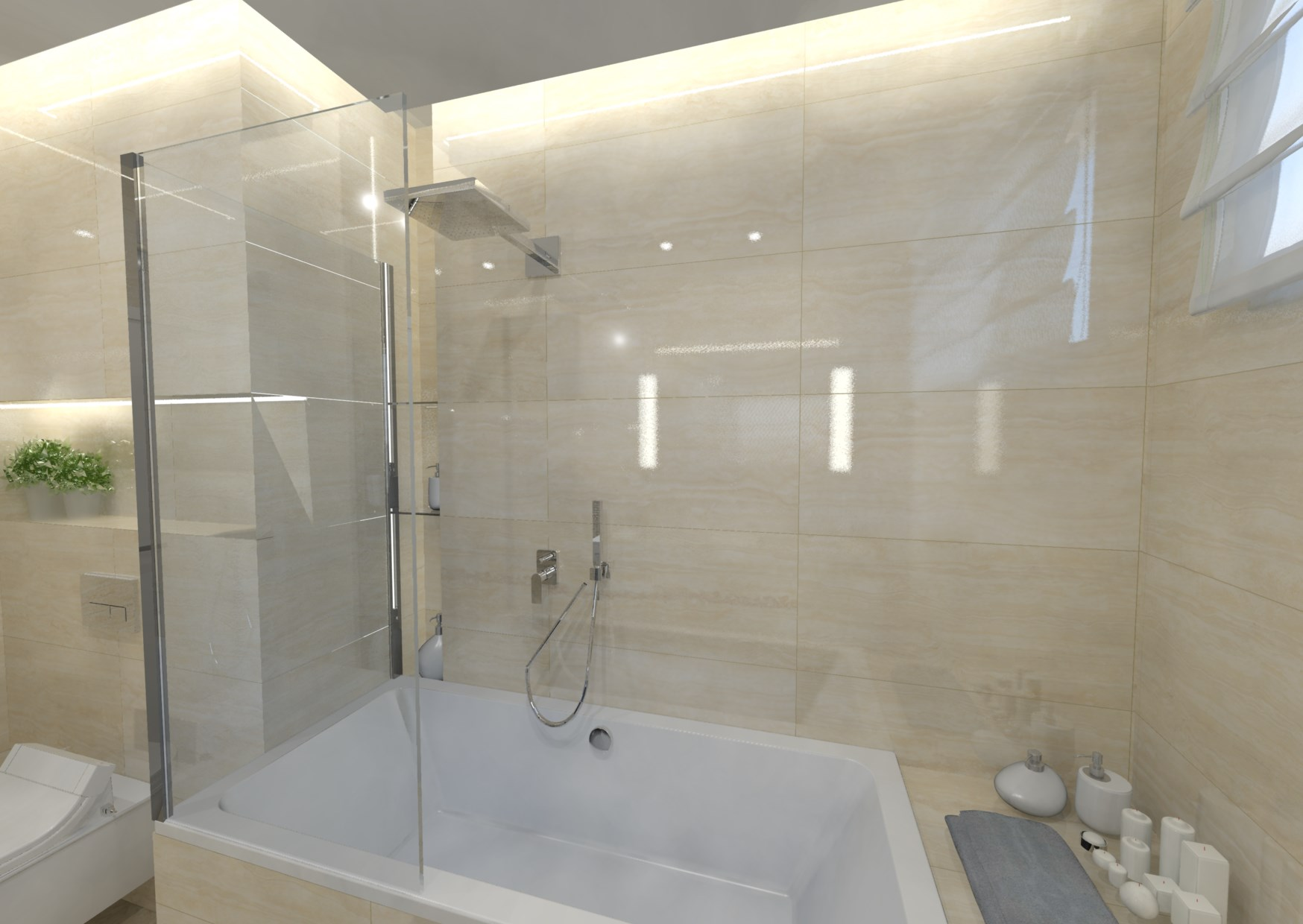 Návrh malé koupelny 3
