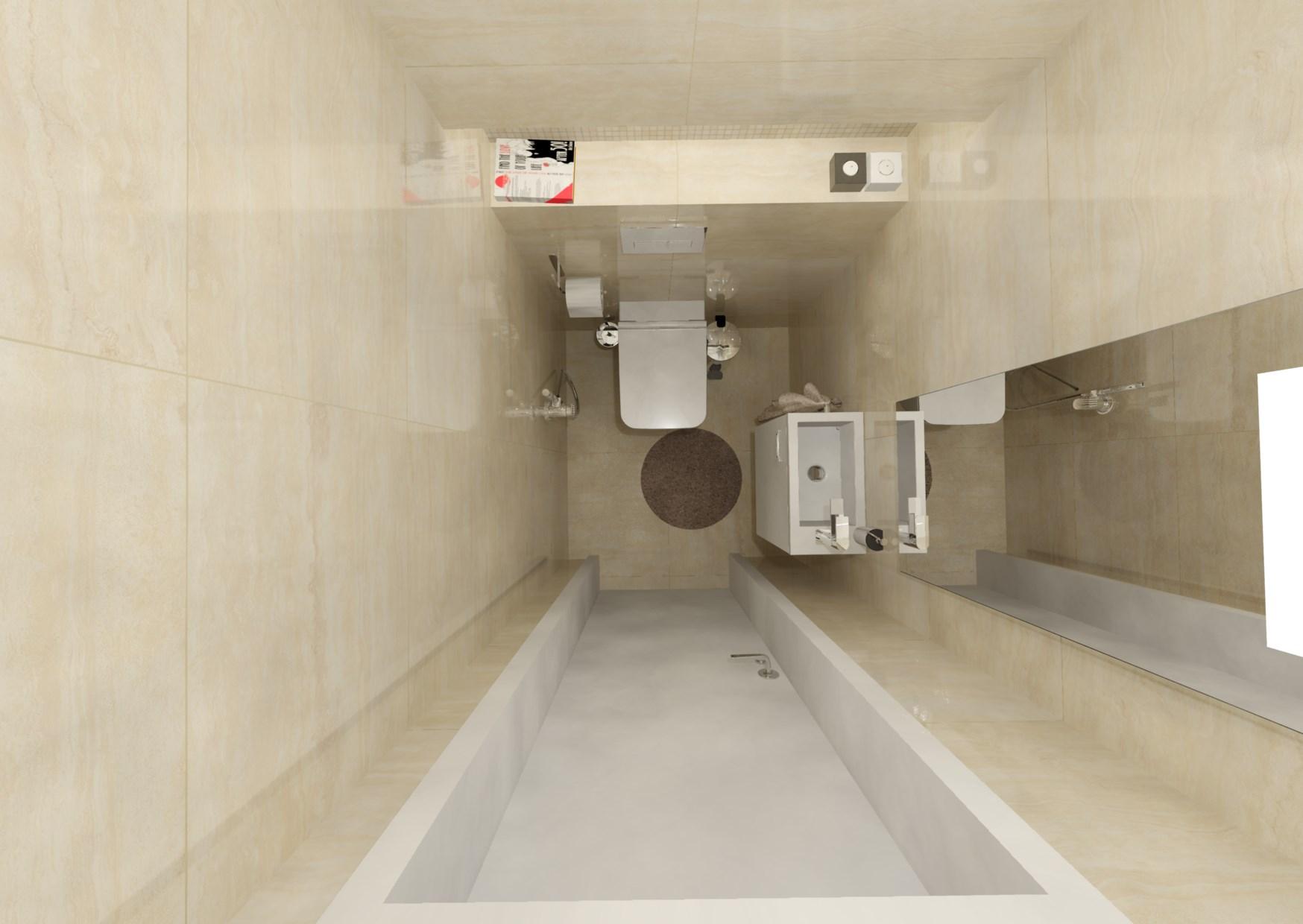 Návrh malé koupelny 13