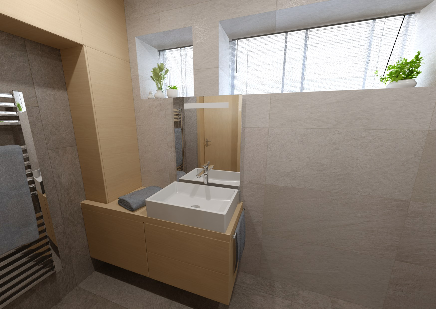 Návrh minimalistické koupelny 0