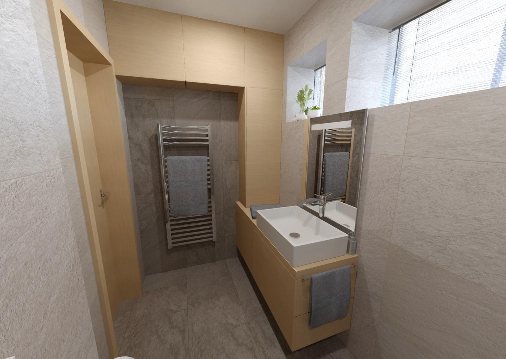 Návrh minimalistické koupelny 1