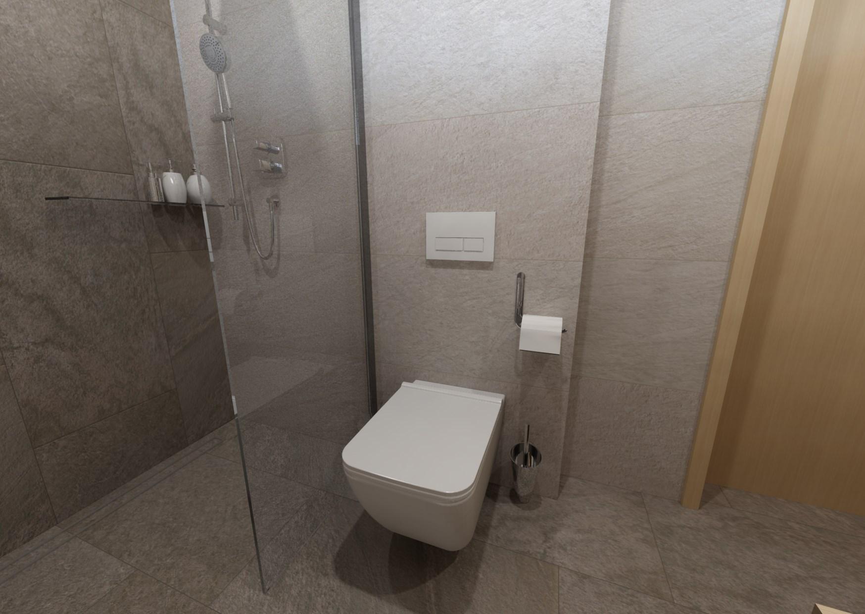 Návrh minimalistické koupelny 2