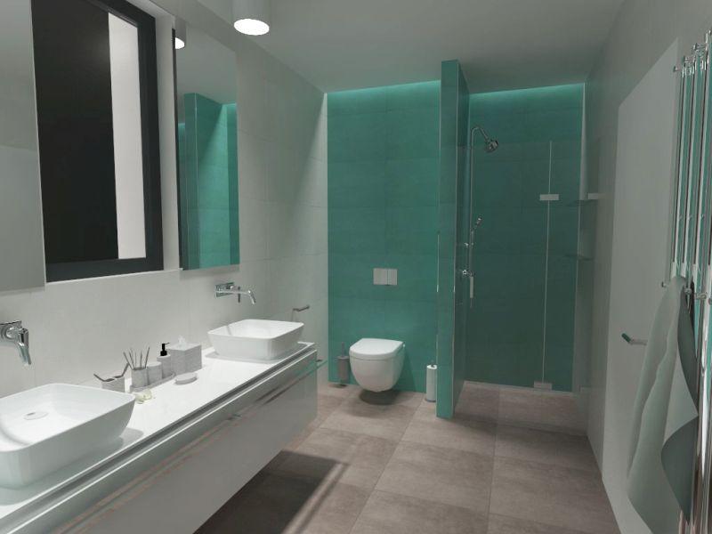 Návrh barevné koupelny 20