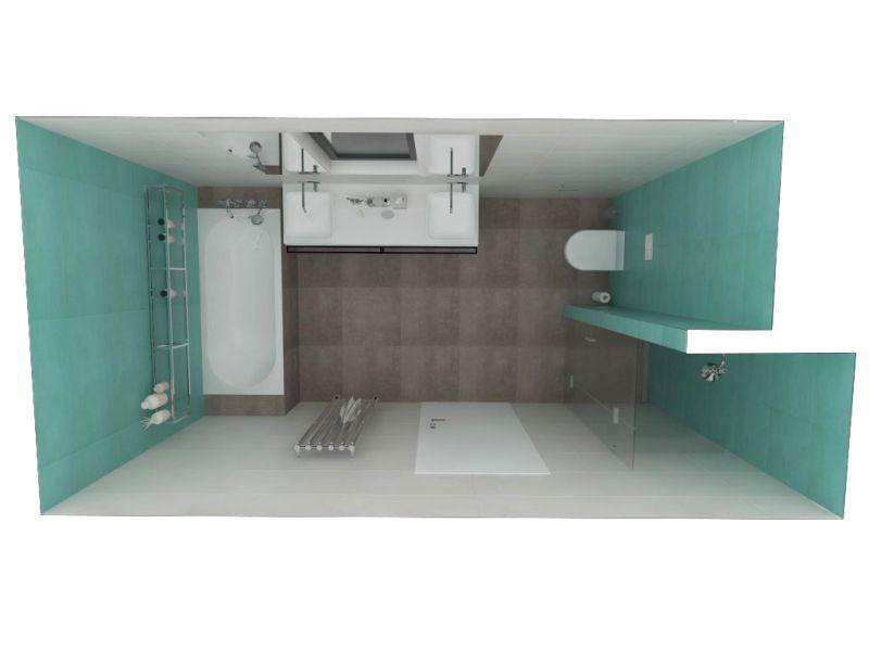 Návrh barevné koupelny 22