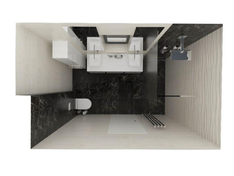 Návrh koupelny s 3D obklady 11
