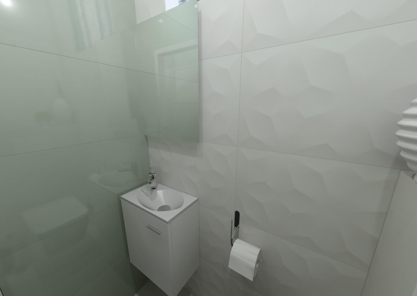 Návrh koupelny s 3D obklady 9