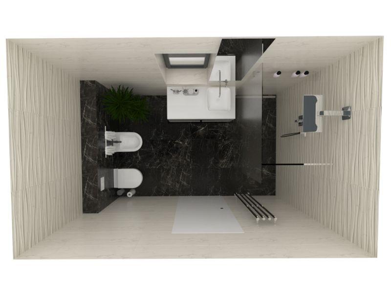 Návrh koupelny s 3D obklady 10