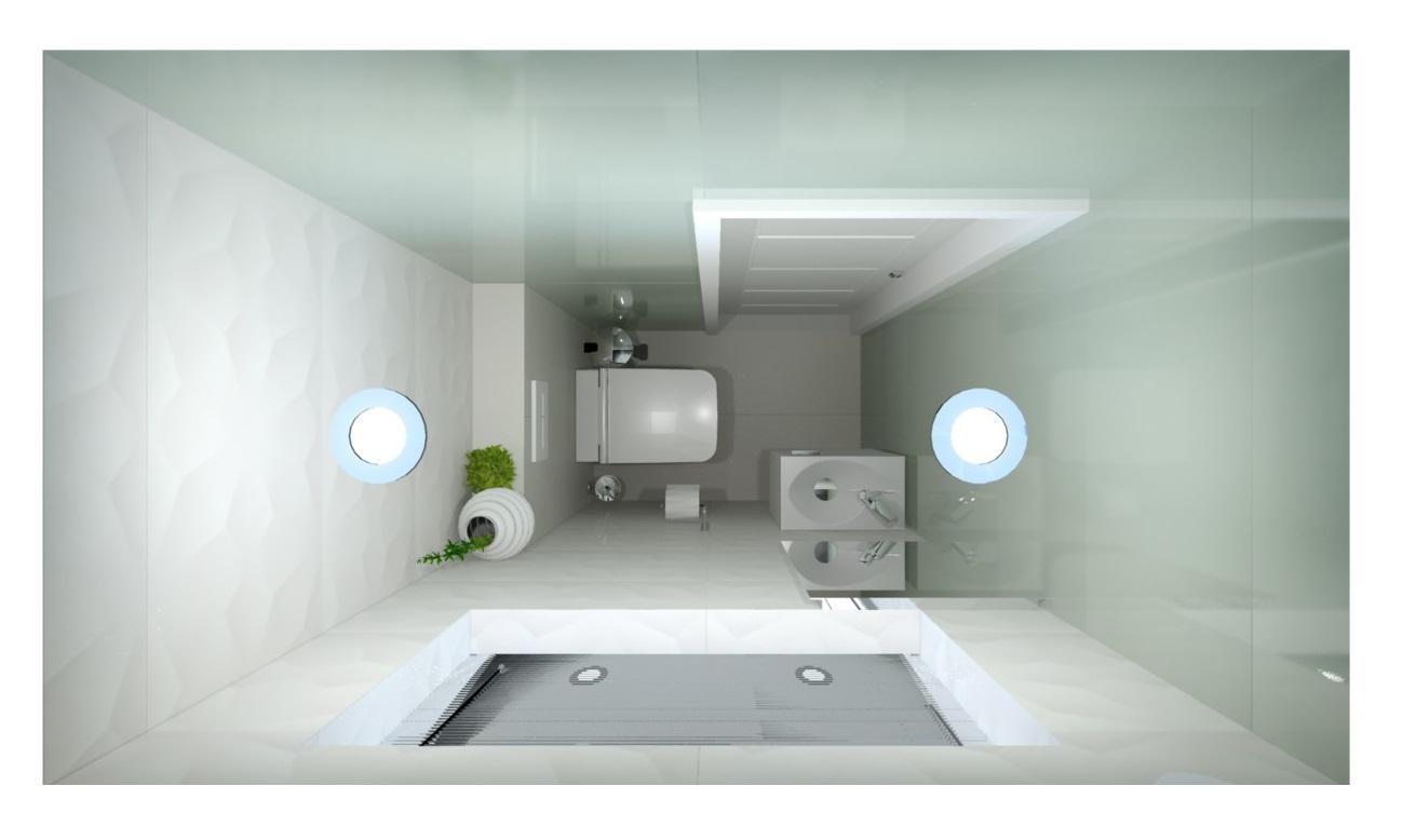 Návrh koupelny s 3D obklady 12