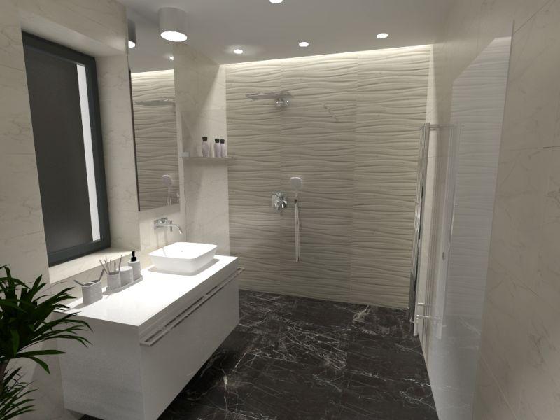 Návrh koupelny s 3D obklady 2