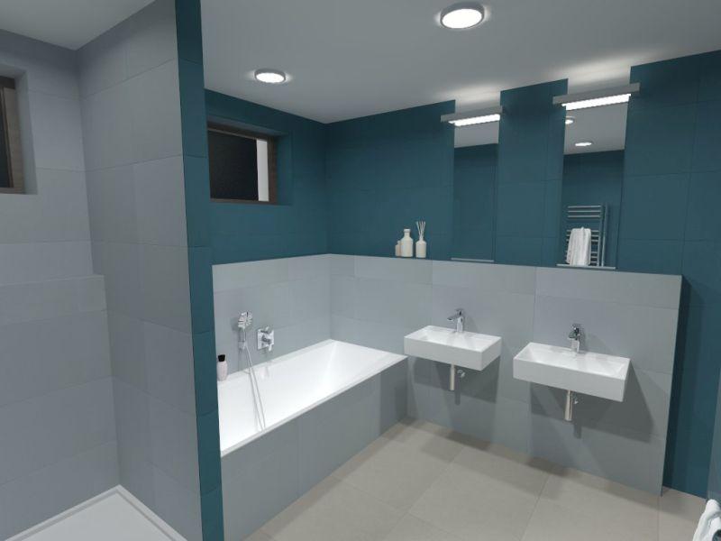 Návrh barevné koupelny 14