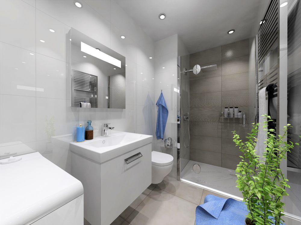 Návrh bílé koupelny 0
