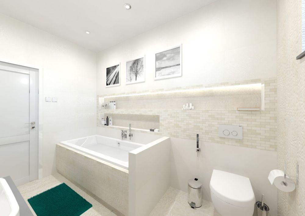 Návrh bílé koupelny 2