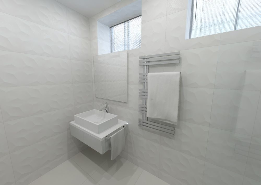 Návrh bílé koupelny 4