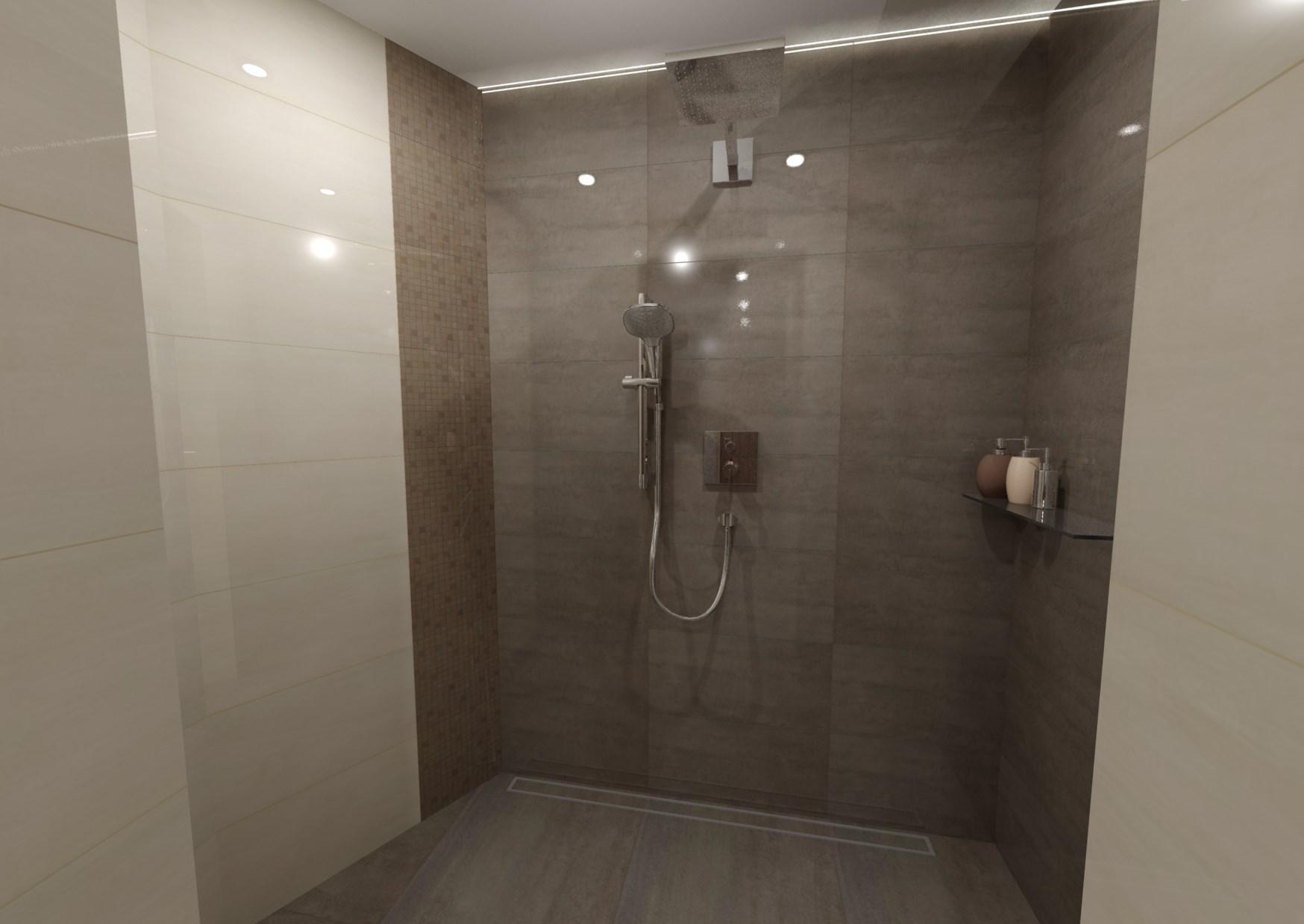 Návrh koupelny s dřevěným dekorem 0