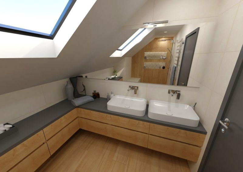 Návrh koupelny s dřevěným dekorem 17