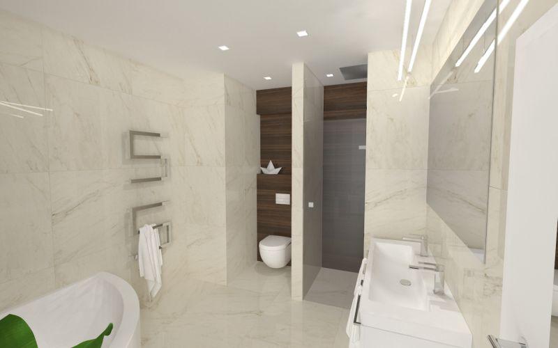 Návrh koupelny s dřevěným dekorem 19