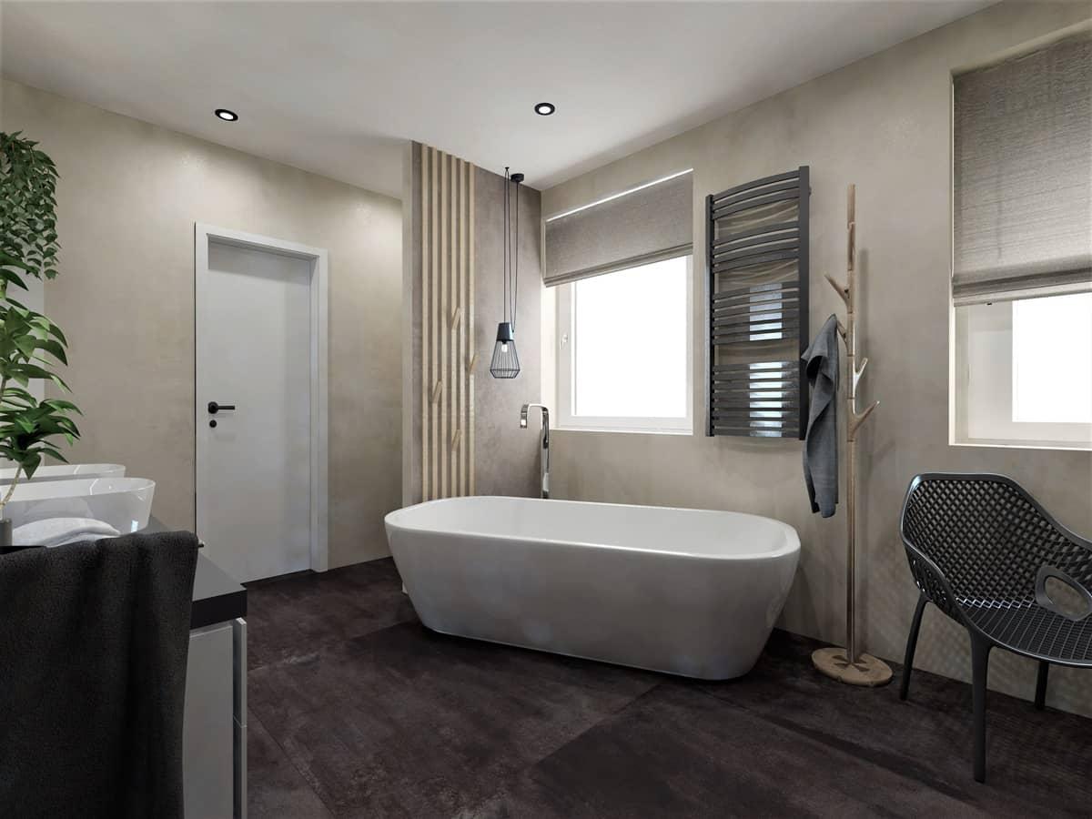 Návrh koupelny se saunou 4