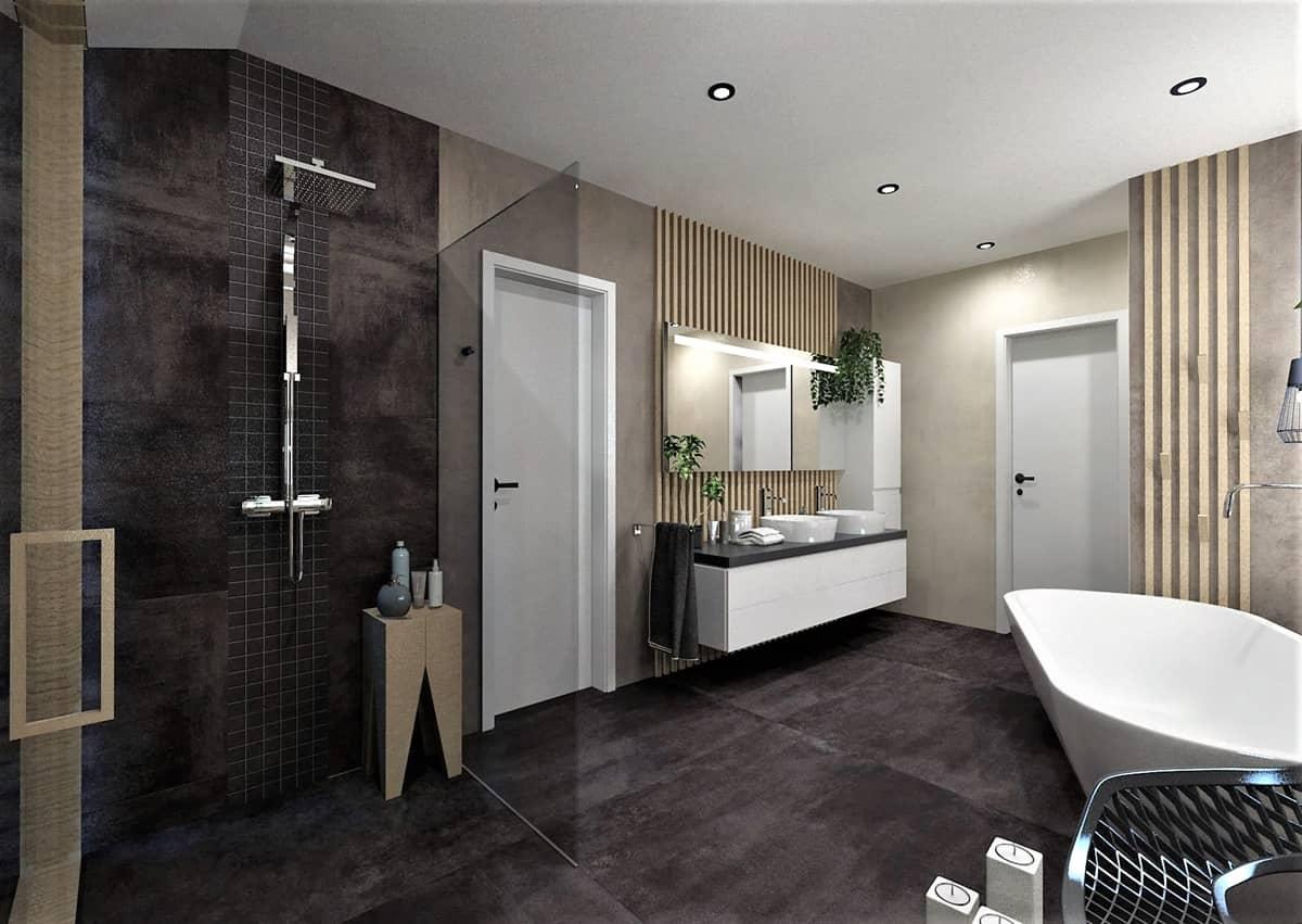 Návrh koupelny se saunou 3