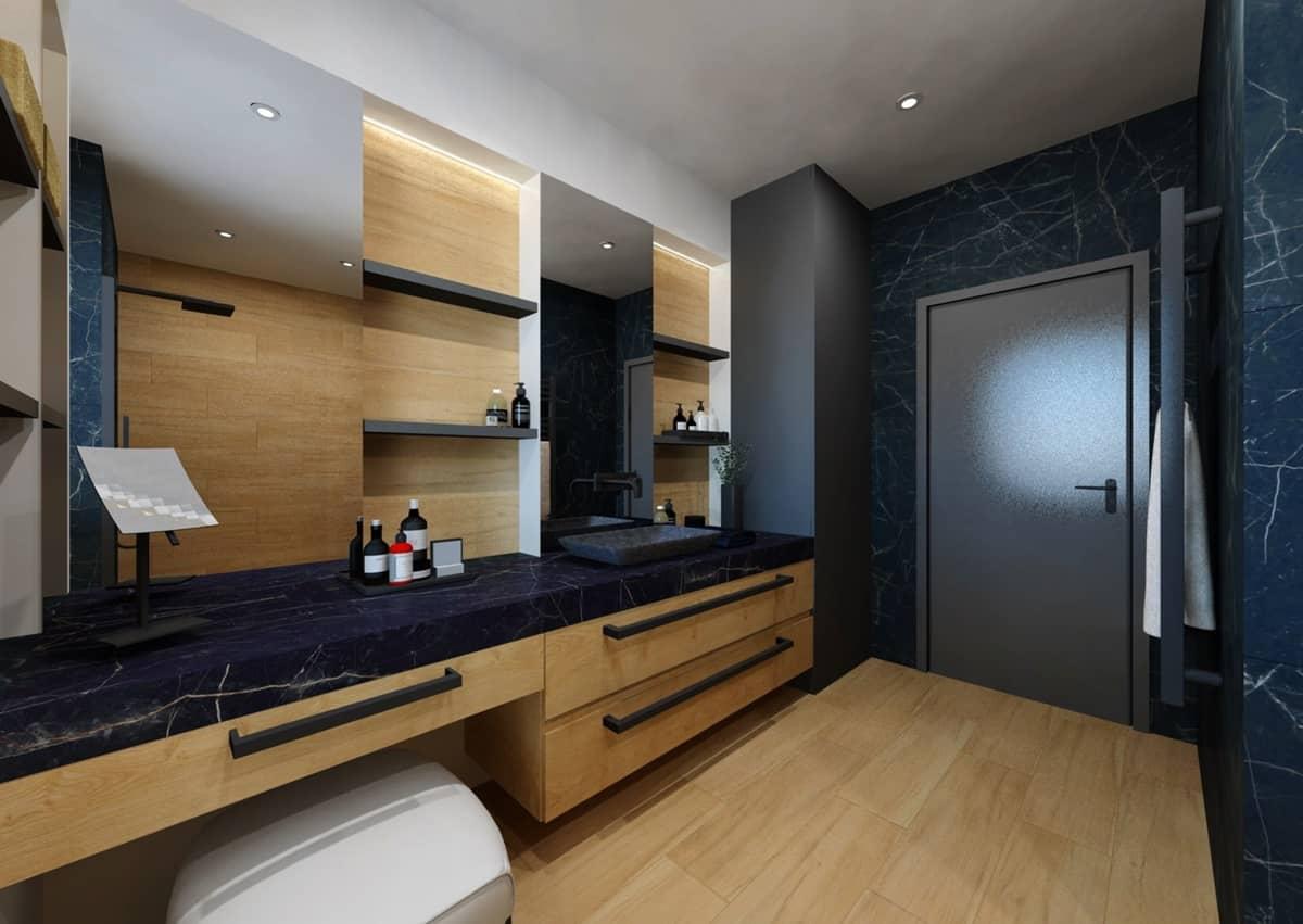 Návrh koupelny s toaletním stolkem 0