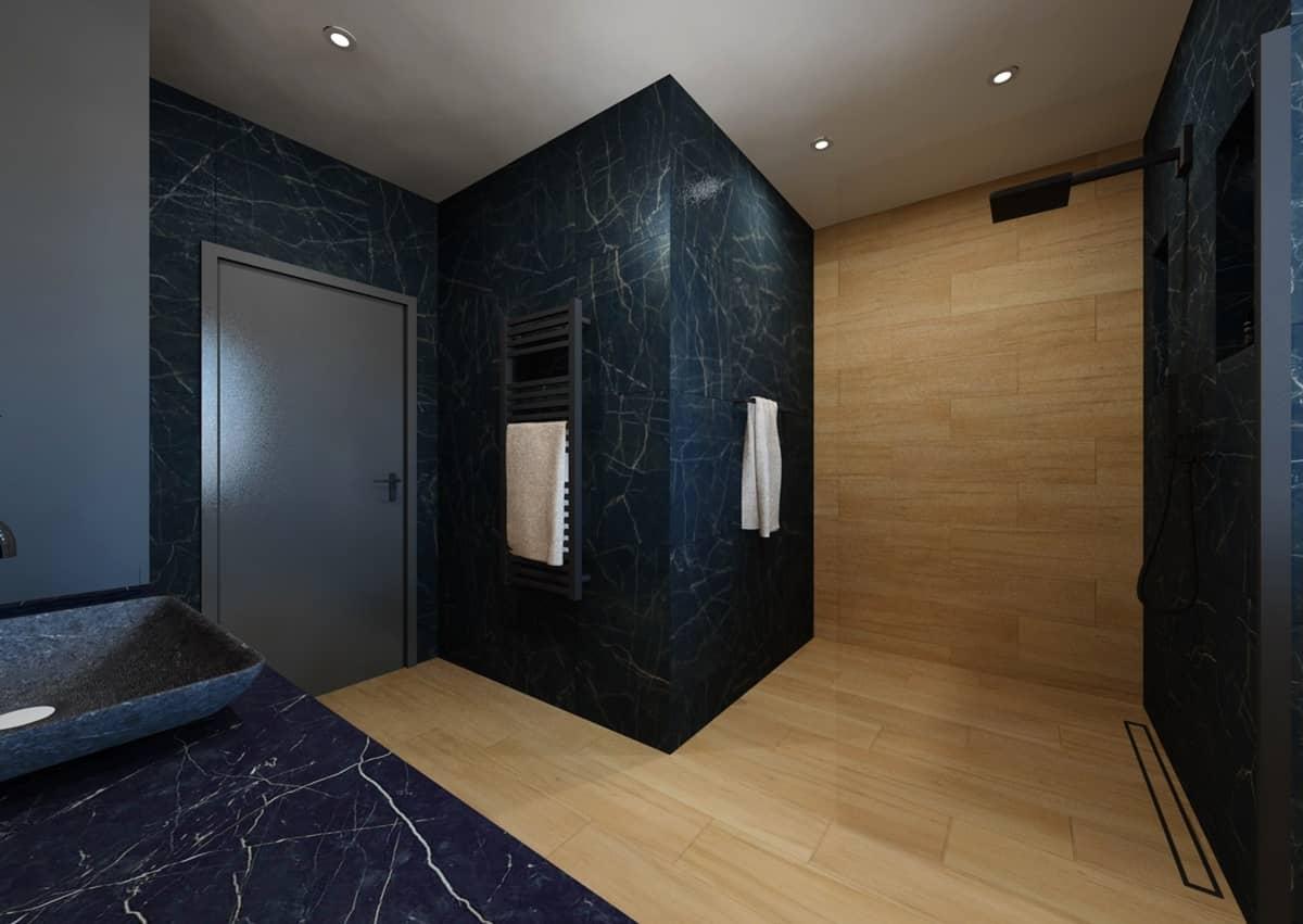 Návrh koupelny s toaletním stolkem 2