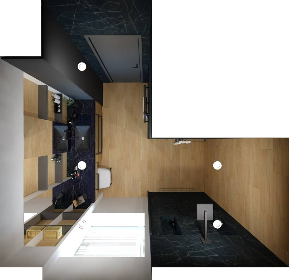 Návrh koupelny s toaletním stolkem 4