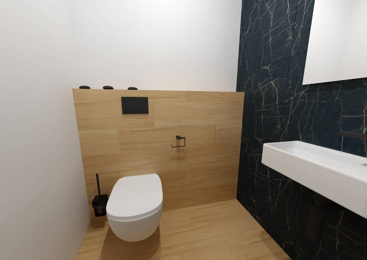 Návrh koupelny s toaletním stolkem 6