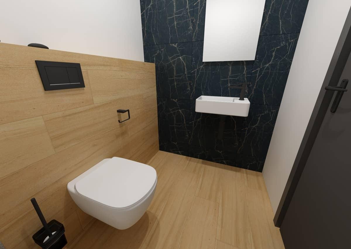 Návrh koupelny s toaletním stolkem 7