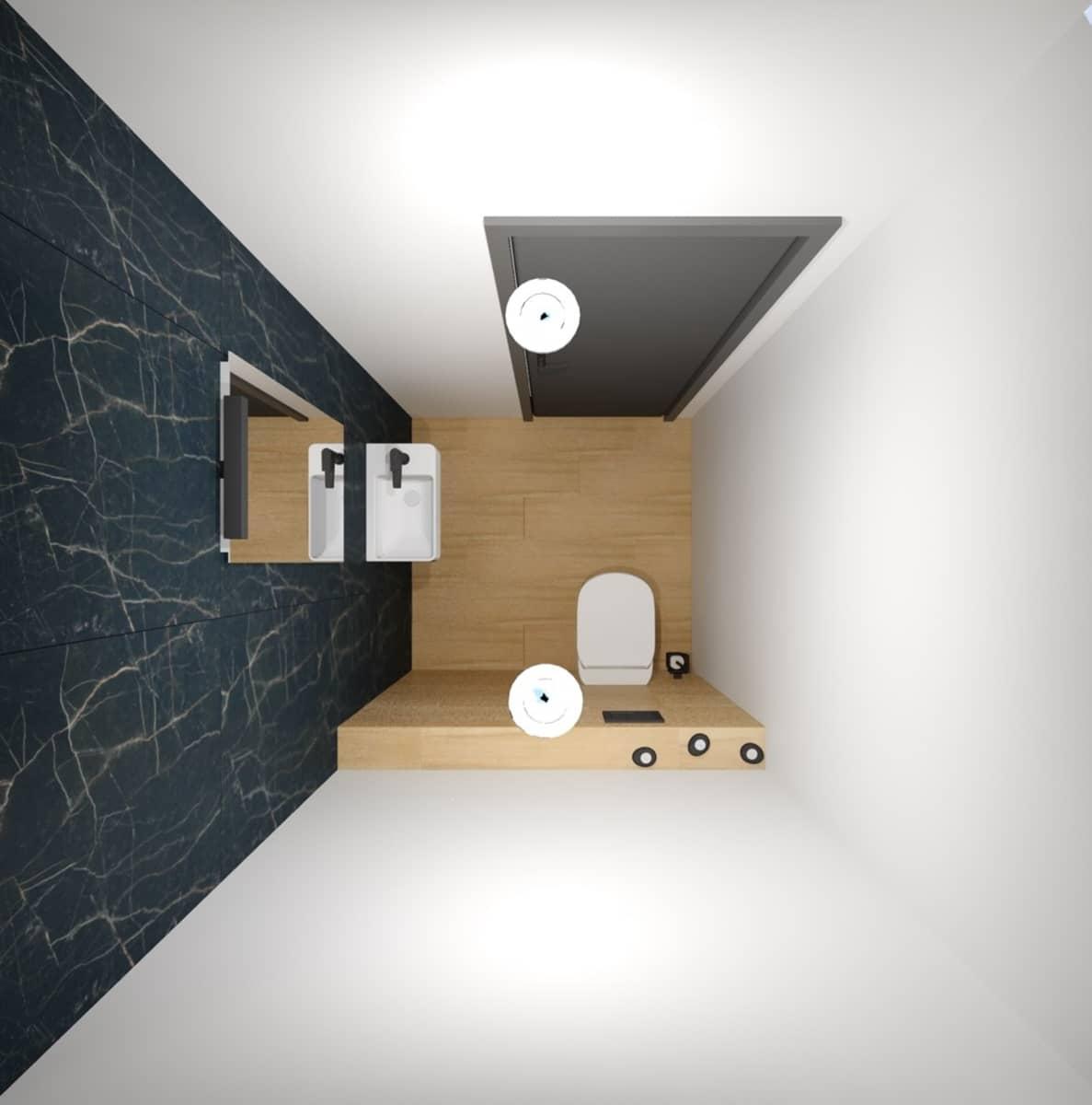 Návrh koupelny s toaletním stolkem 5