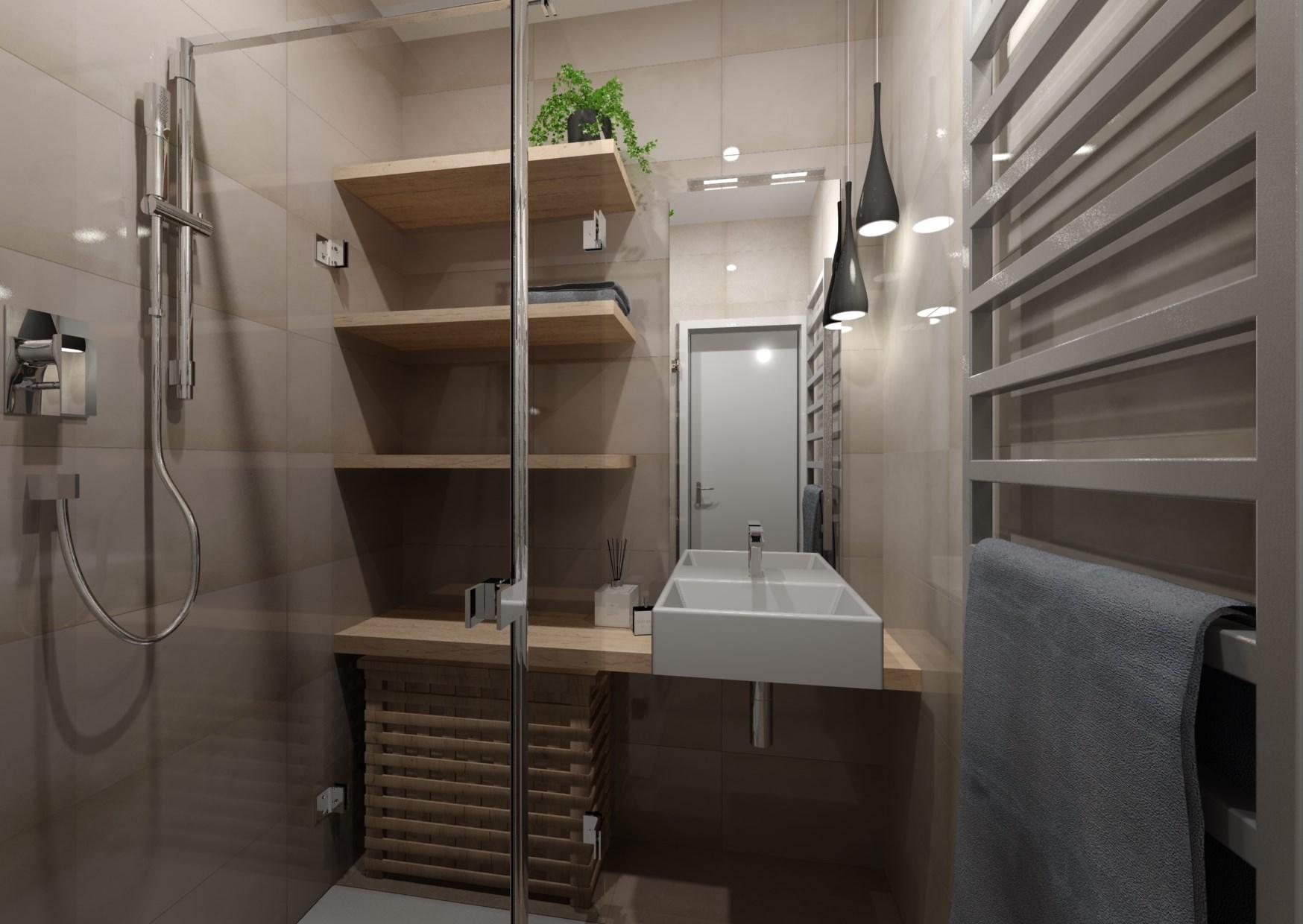 Návrh rekonstrukce mini koupelny  0