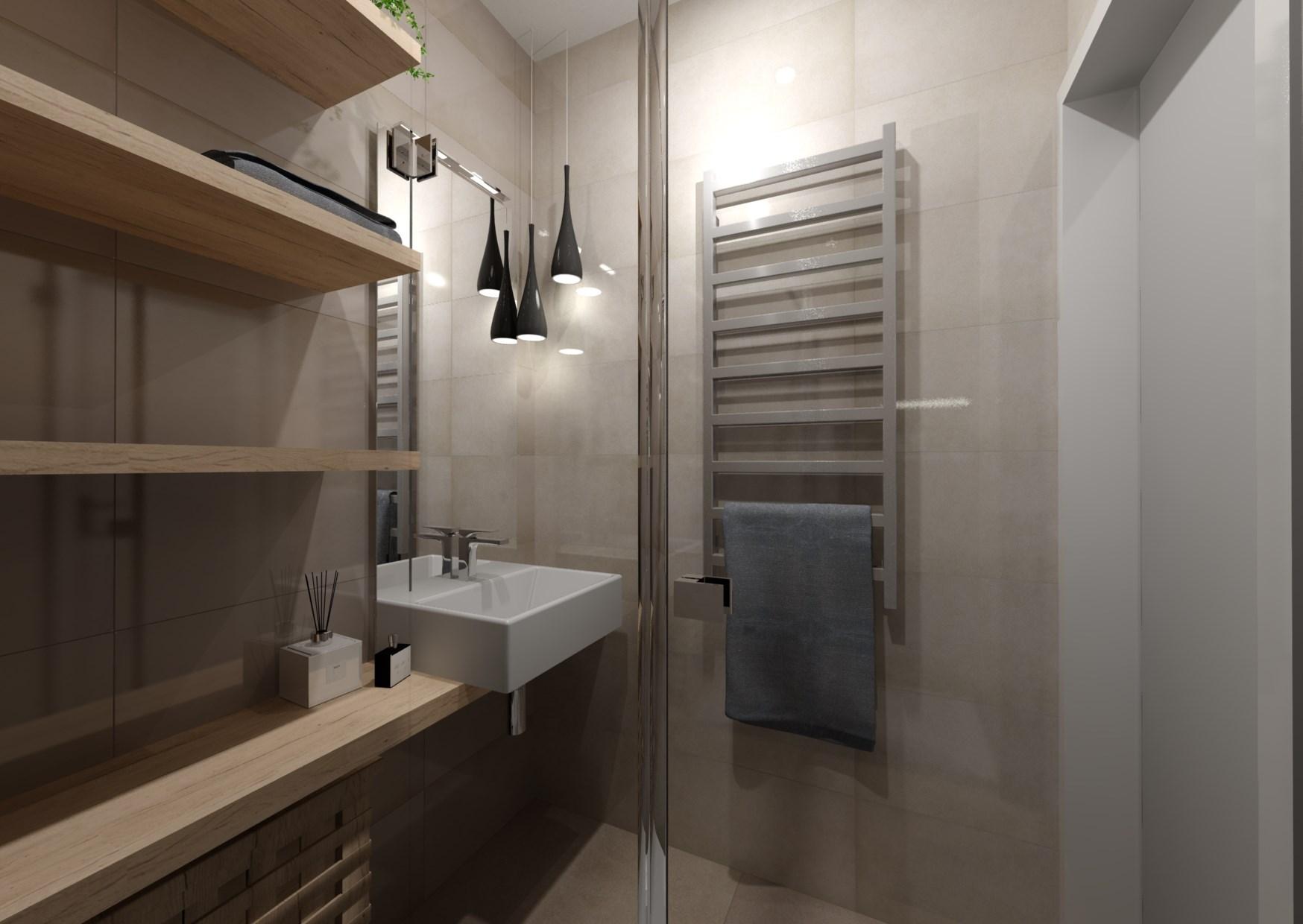 Návrh rekonstrukce mini koupelny  2