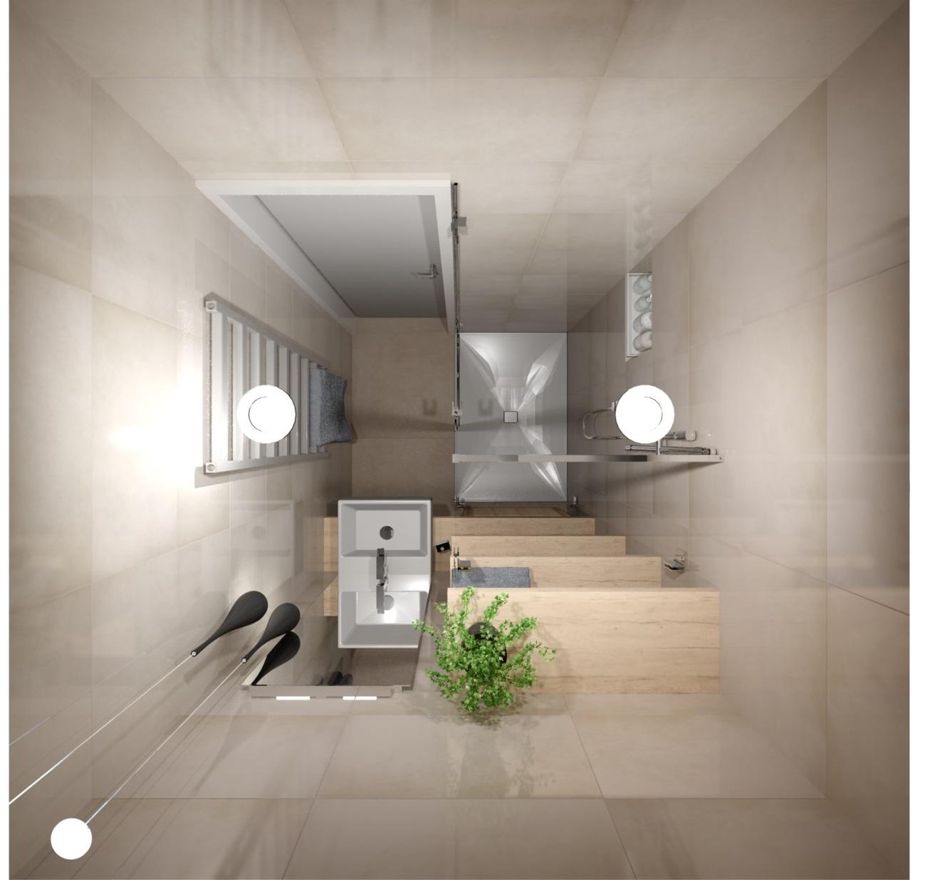 Návrh rekonstrukce mini koupelny  3