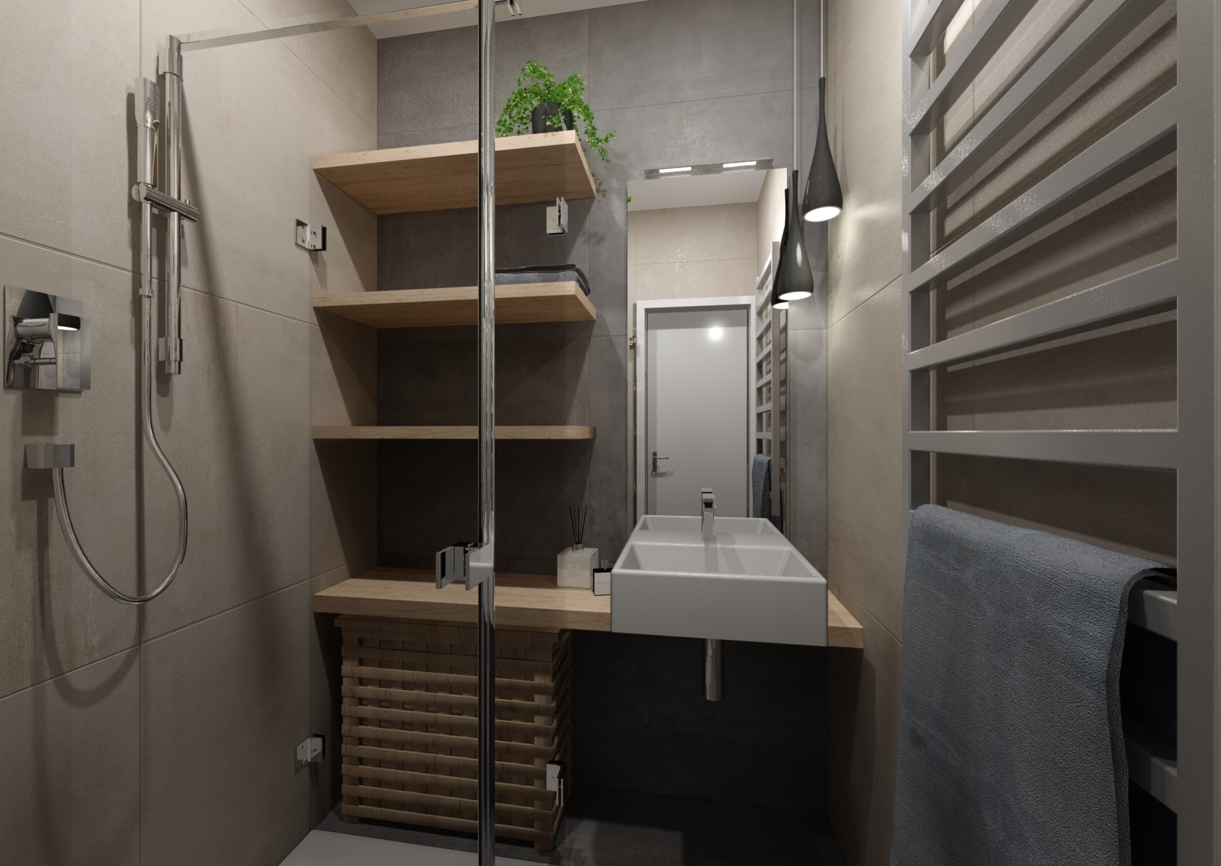 Návrh rekonstrukce mini koupelny  4