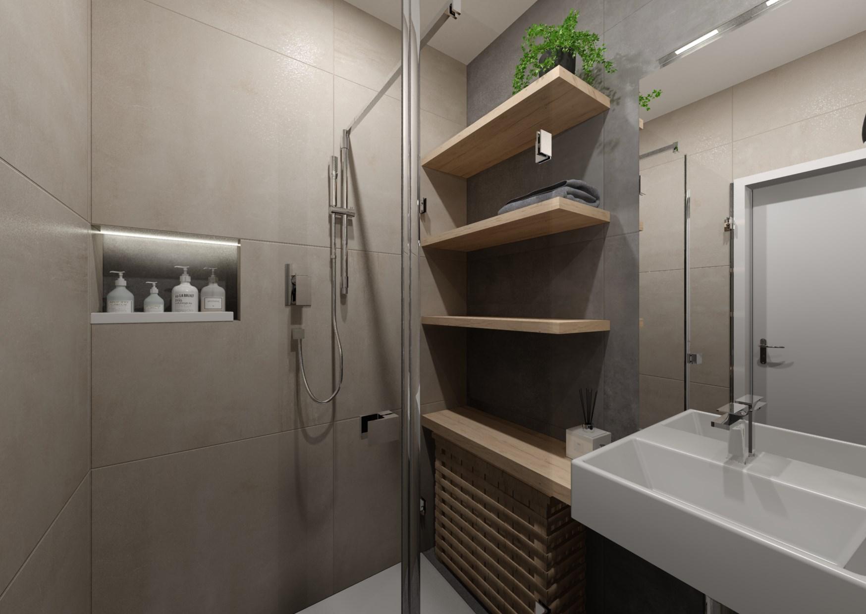 Návrh rekonstrukce mini koupelny  5