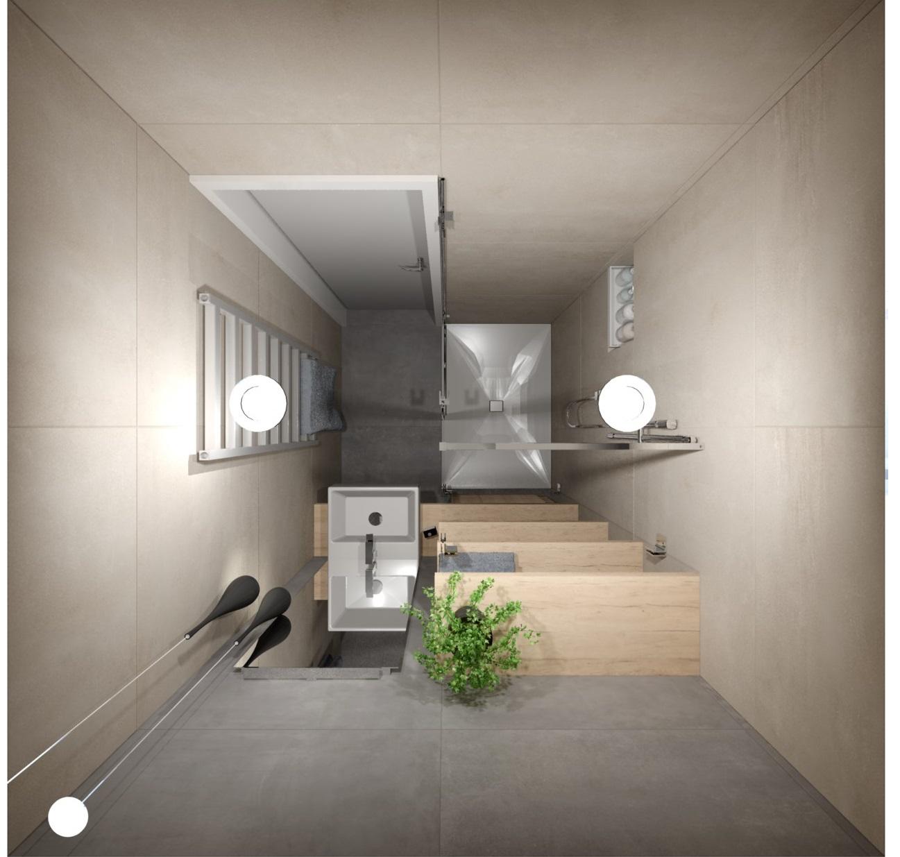 Návrh rekonstrukce mini koupelny  7