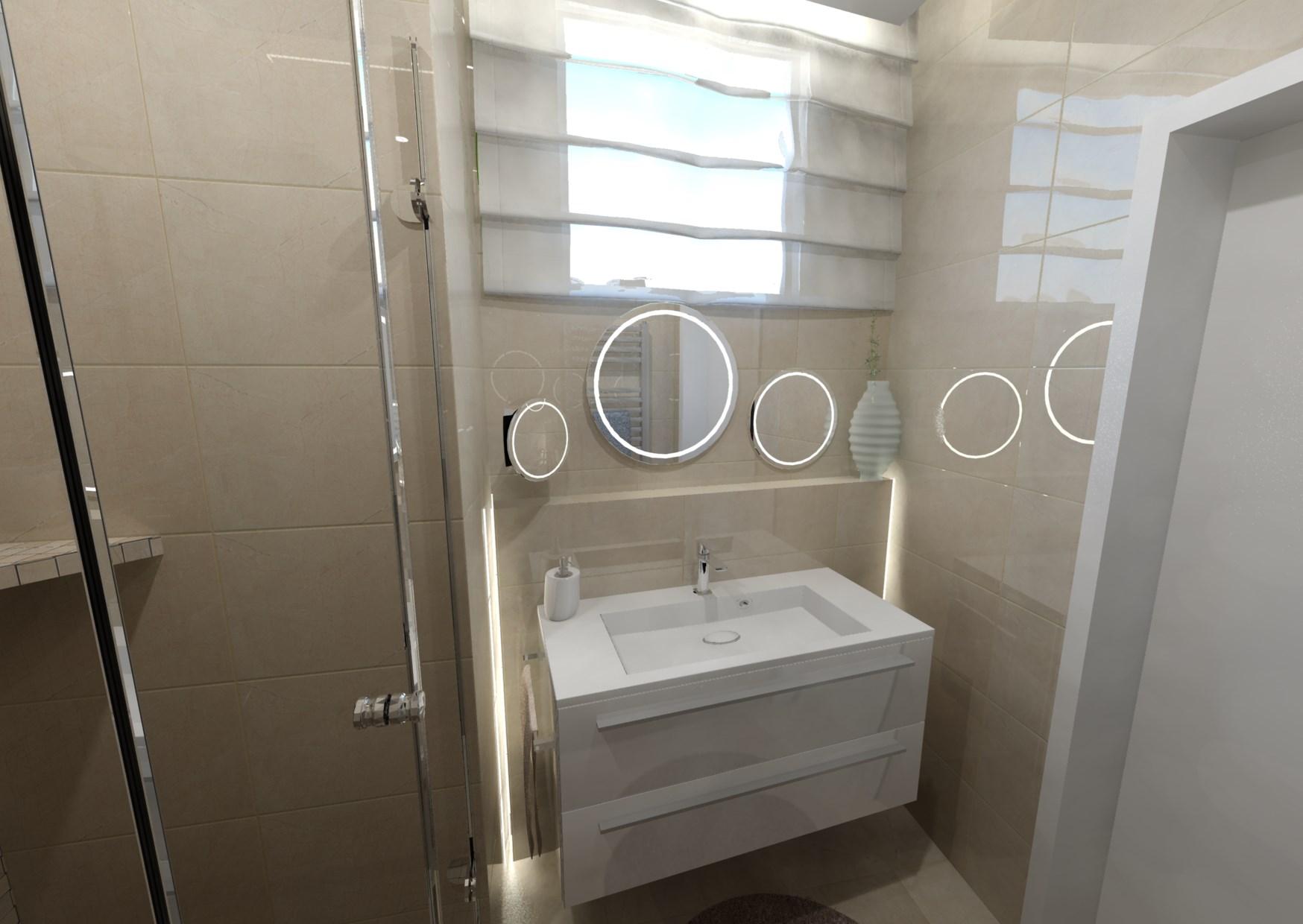 Návrh malé koupelny 9