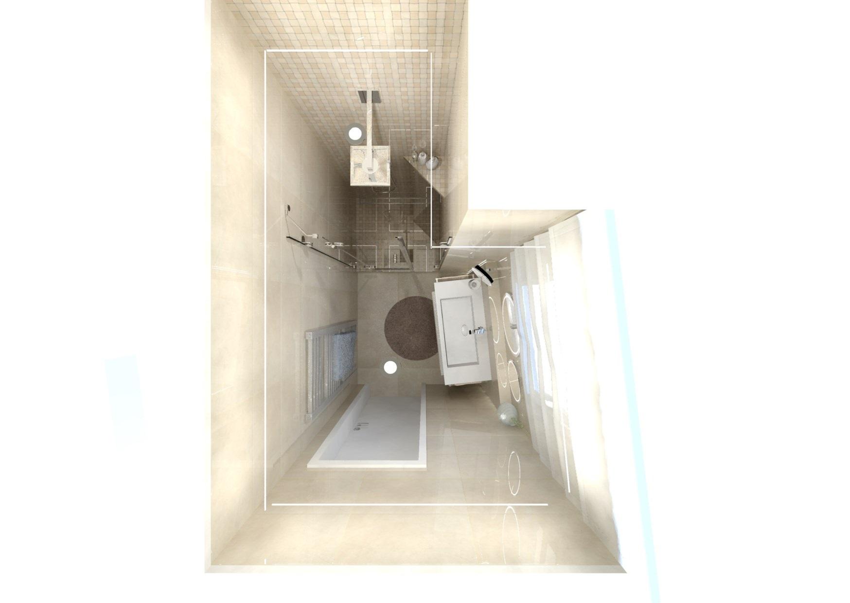 Návrh malé koupelny 14