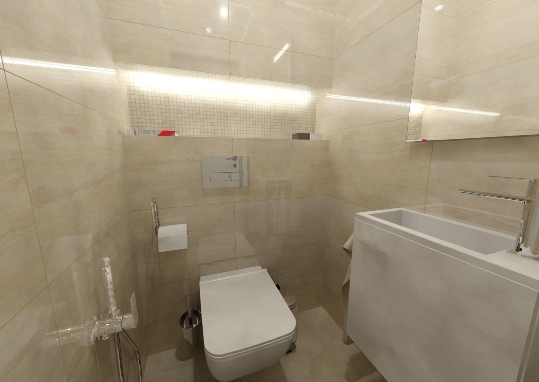 Návrh malé koupelny 17