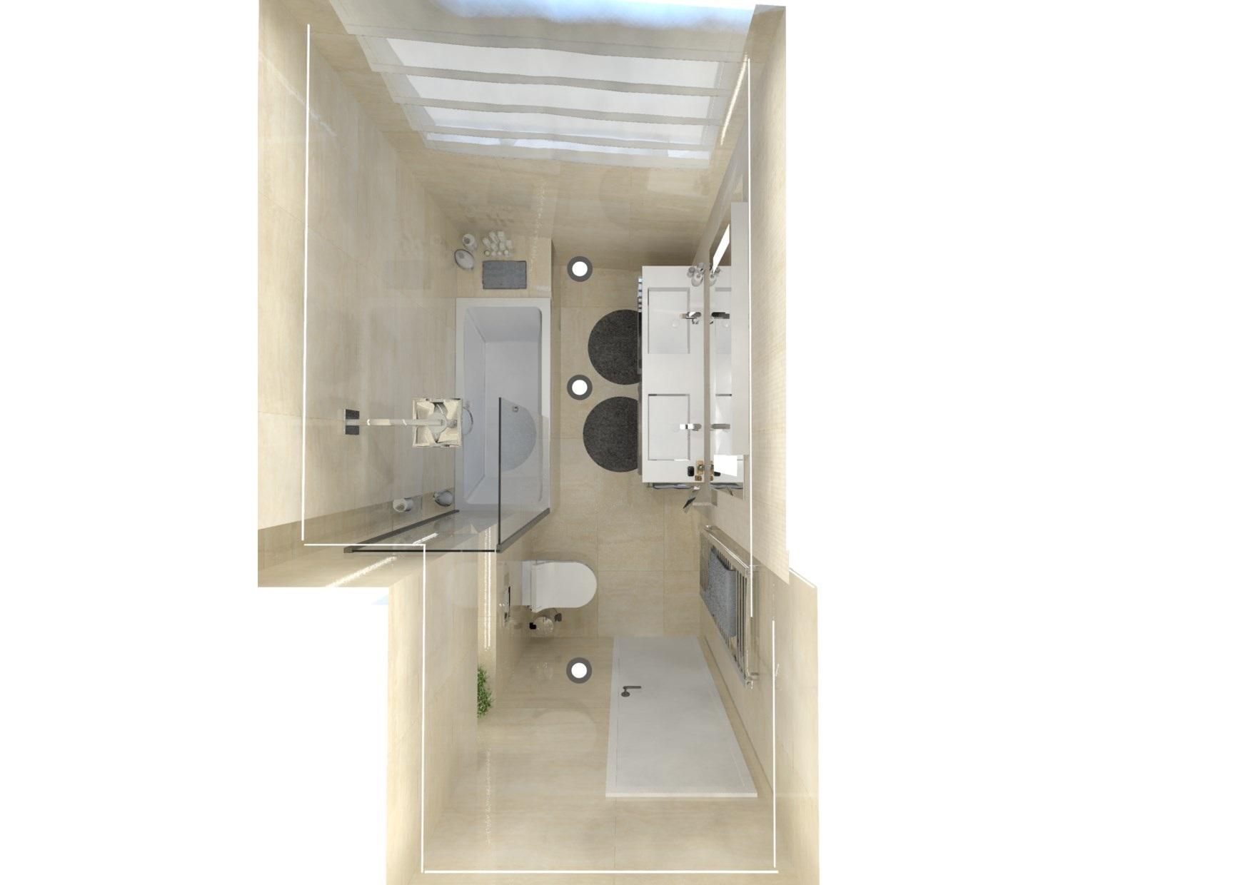 Návrh malé koupelny 20