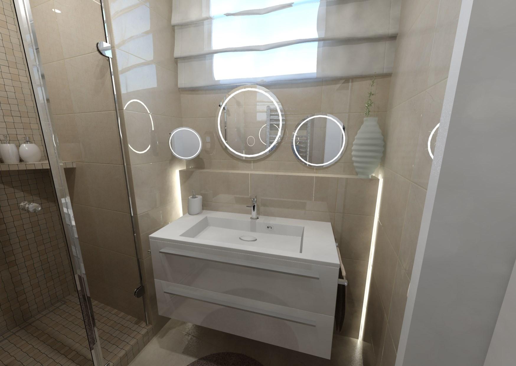 Návrh malé koupelny 24